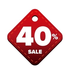 Sale forty percent pricetag red vector