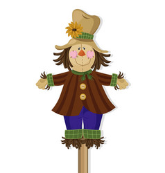 Scarecrow doll cute character vector