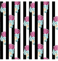 Seamless pattern with bunches roses vector
