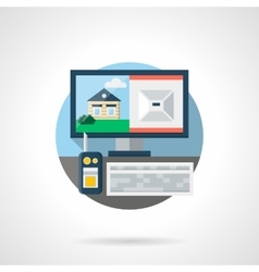 Security technology color detailed icon vector