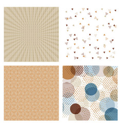 Set of cards patterns at the background vector