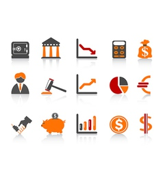 simple bank iconscolor series vector image vector image