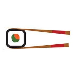 simple cartoon sushi on white background vector image
