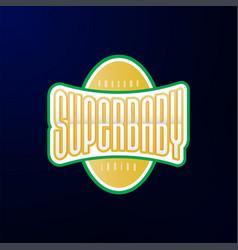 sport emblem typography super bahero logotype vector image