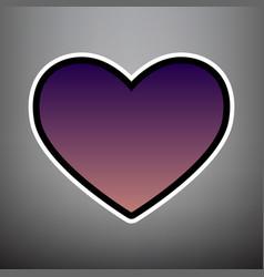 Tie sign violet gradient icon with black vector