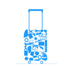 Travel bag vector