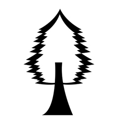 Tree plant forest monochrome isolated icon vector