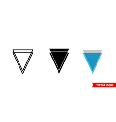 verge icon 3 types color black and white vector image