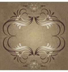 Vintage elegant frame vector image