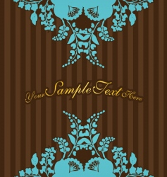 vintage flowers with stripes vector image