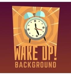 Wake up background vector image