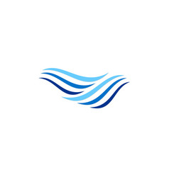 water wave stripe logo vector image