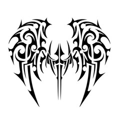 Wings tattoo tribal art vector