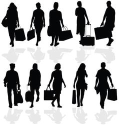 Women and men travelers vector