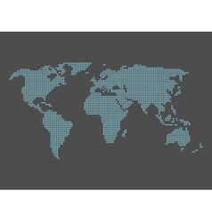 World map made of squares vector image