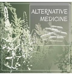 Alternative medicine theme vector image
