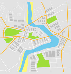 flat map with vector image