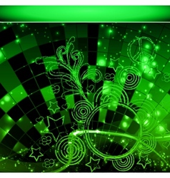 intensive green colors background - abstract vector image