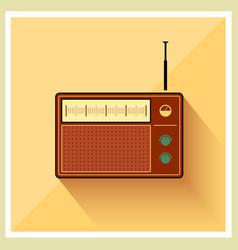 Retro Background Radio Receiver Tuner vector image vector image