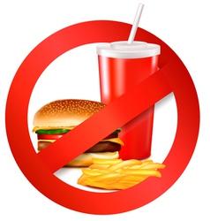 Fast food danger label vector