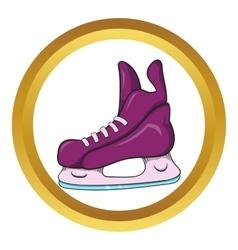 Ice hockey skates icon cartoon style vector image vector image