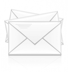 group of white postal envelope vector image vector image