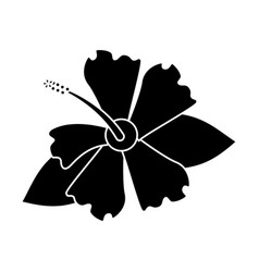 Hibiscus flower exotic pictogram vector