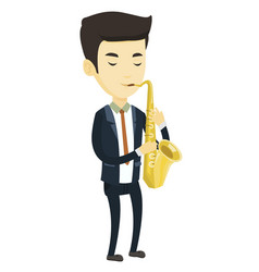 musician playing on saxophone vector image