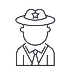 policeman line icon sign on vector image
