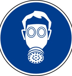 Respirator Must Be Worn Safety Sign vector image vector image