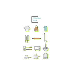 set of cooking vector image
