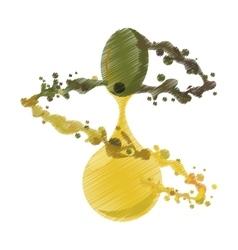 splashing olive oil ripe graphic vector image