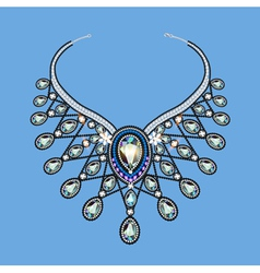 a womans necklace of beads vector image