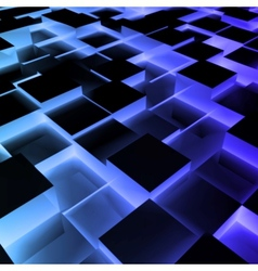 Disco Abstract blue Square Box vector image vector image