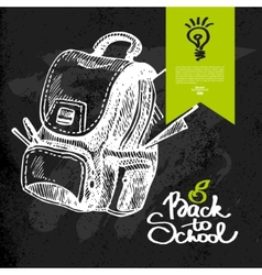 Hand drawn back to school background vector image