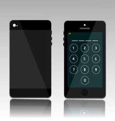 password on black phone vector image