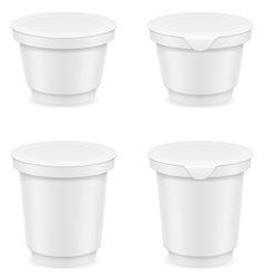 plastic container of yogurt or ice cream 05 vector image vector image