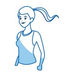 runner girl training athletic design graphic vector image