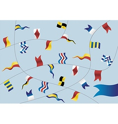Set of nautical flags vector image