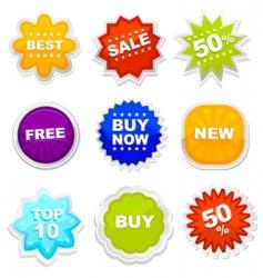 shopping tag vector image