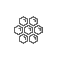 simple honeycombs line icon symbol and sign vector image