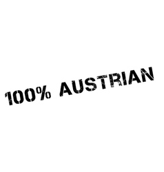 100 percent Austrian rubber stamp vector