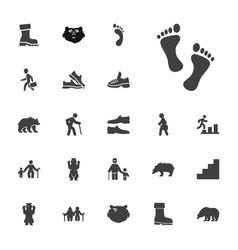 22 walking icons vector