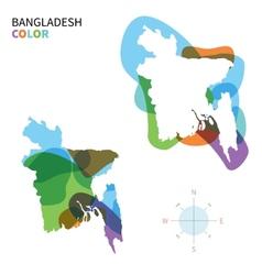 Abstract color map bangladesh vector