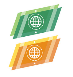 abstract geometric globe logo vector image