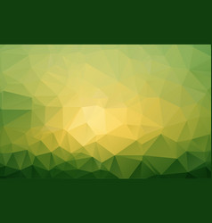abstract green polygonal mosaic background vector image