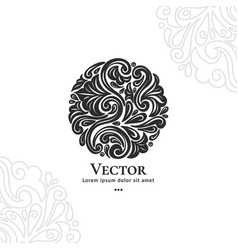 Abstract leaves petals and dots vector