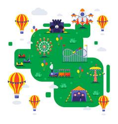 Amusement park summer vector