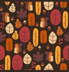 autumn nature seamless pattern cute vector image