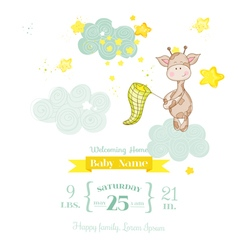 Baby Giraffe Shower Card - with place for text vector image